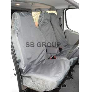 VW Transporter T5 van seat covers waterproof grey